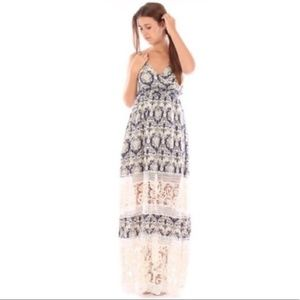 Anthro Sunday in Brooklyn Crochet Maxi Dress M